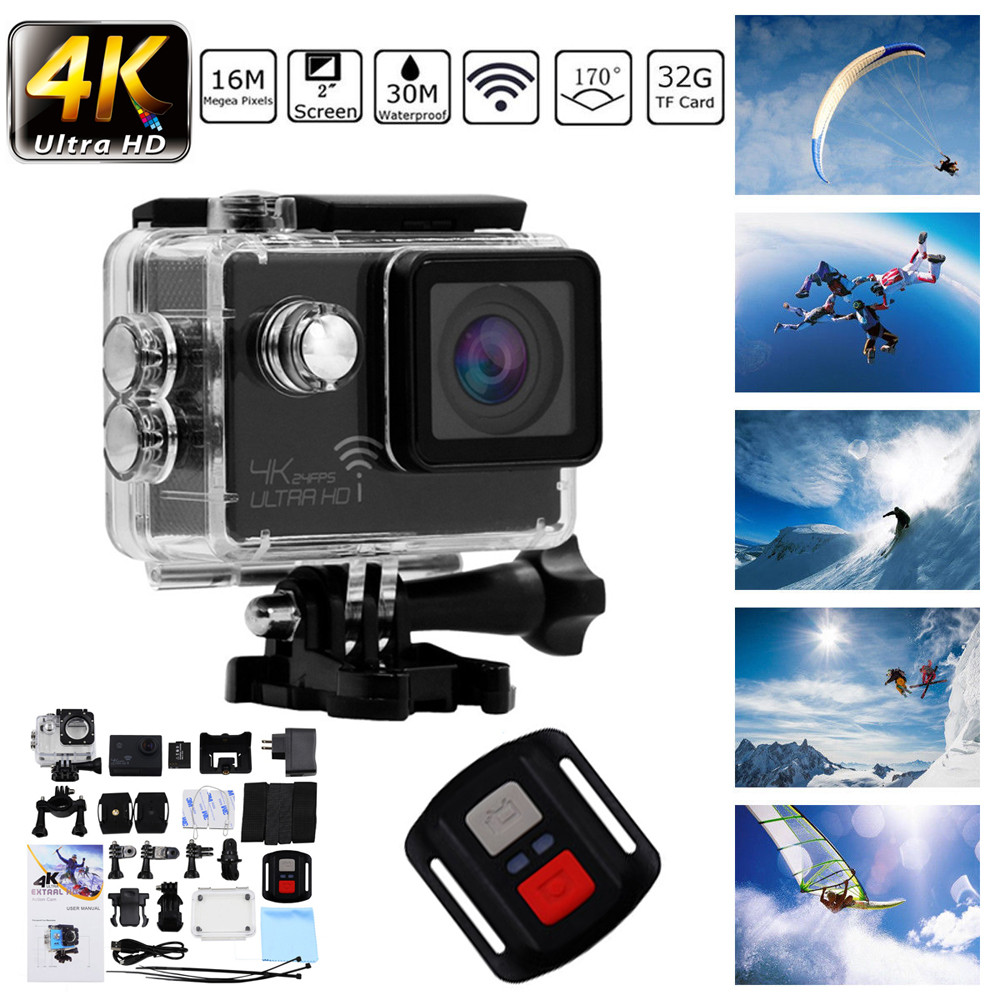 Sport & Action-videokamera Sport & Action-videokameras Herzhaft 4 Karat Ultra Hd 1080 P Sport Action Kamera Wifi 16mp Video Recorder Wasserdichte Dv Jun14 Neueste Technik