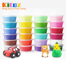 20g Slime Fluffy Kit Polymer Clay Plasticine Suppliers Soft Light Clay Putty for Modeling Playdough Play Dough Lizun Toy for kid(China)