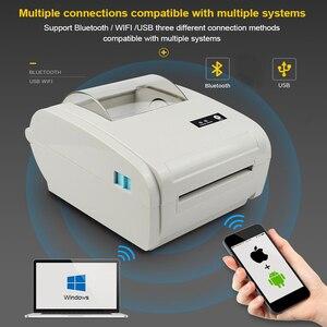 """Image 1 - 4 סנטימטרים תרמית חינם תווית מדפסת ברקוד Bluetooth תמונה מדבקת תרמית מדפסת עבור Ebay Etsy Shopify 160 מ""""מ\שנייה"""
