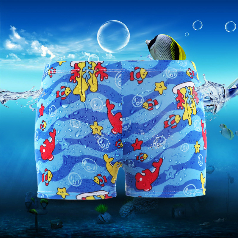 2018 summer childrens swimming trunks cartoon cute boys swimming suits baby swimming pools hot springs and swimming wear