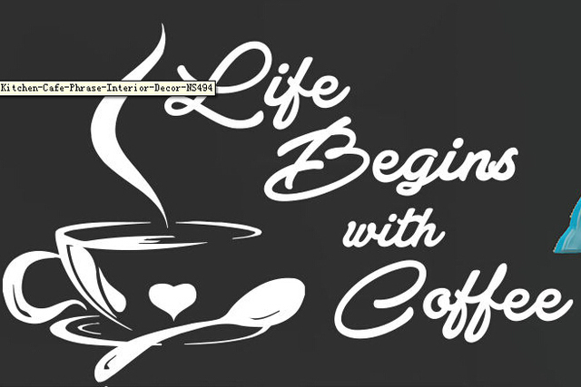 Etonnant Coffee Vinyl Wall Decal Life Begins With Coffee Letterings Cafe Kitchen  Wall Sticker Coffee Shop Window