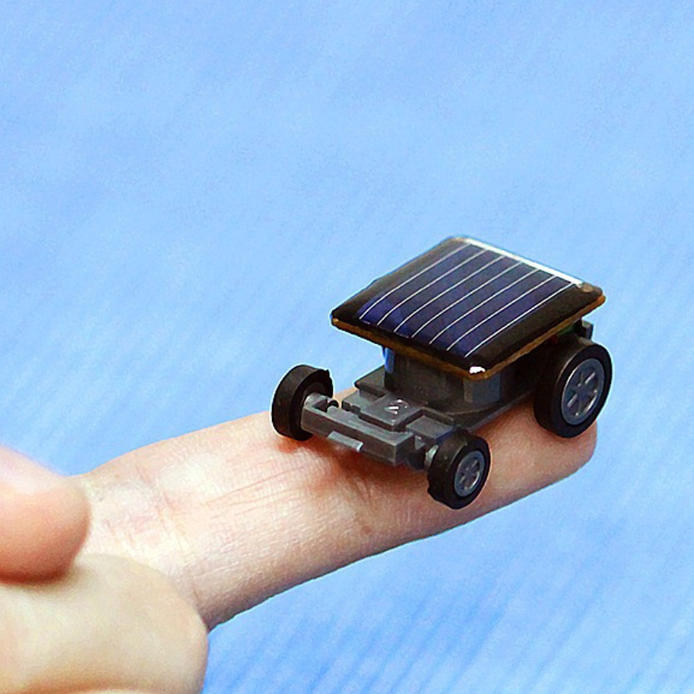 solar car gadget Smallest Solar Power Mini Toy Car Racer Educational Solar Powered Toy energia solar kids toys cricket hot #06 bicycle pedal