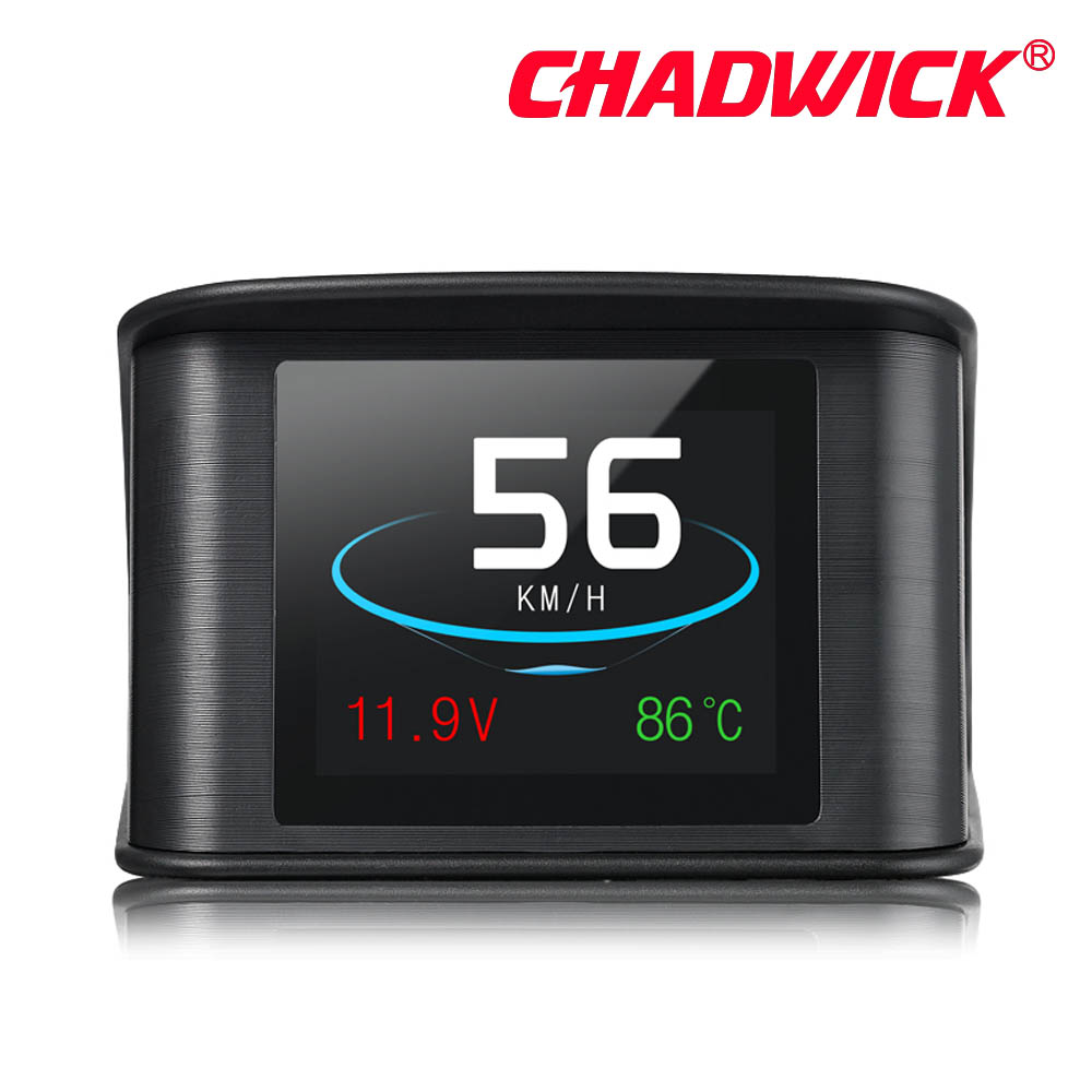Automobile Trip On board Computer HUD Car Digital OBD2 OBD Driving Computer Display Speedometer Temperature Gauge CHADWICK P10-in Head-up Display from Automobiles & Motorcycles