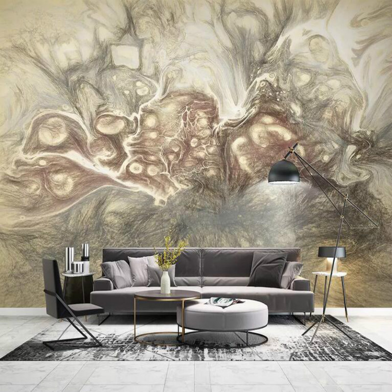 US $11.87 50% OFF|3d Wallpaper for Living Room Modern Wallpaper Background  Wall Painting Mural Silk Paper Abstract art hand drawn sketch-in Wallpapers  ...