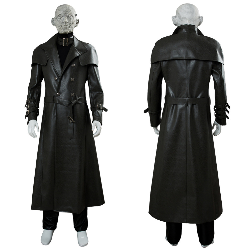 Game Resident Evil 2 Cosplay Tyrant Cosplay Costume Leather Coat Mask Adult Halloween Carnival Party Costume Men Custom
