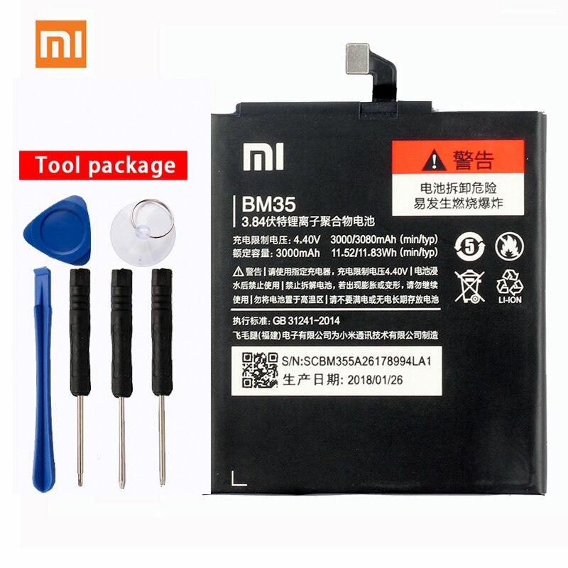 Original Xiaomi BM35 High Capacity Phone Battery For Mi 4C Mi4c 3080mAh