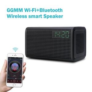 Image 3 - GGMM E3 سمّاعات بلوتوث عمود 10 واط قوي واي فاي مكبرات صوت HiFI مع LED إنذار مكبرات الصوت دعم ساعة تنبيه Multiroom Play