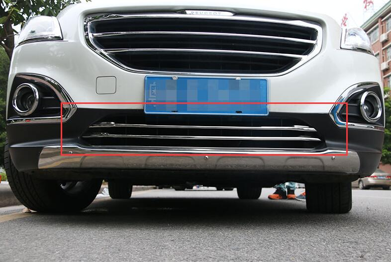 ABS Chrome Front Grille Around Trim Front bumper Around Trim Racing Grills Trim For 2013 Peugeot 3008 abs chrome front grille around trim front bumper around trim racing grills trim for 2013 peugeot 3008
