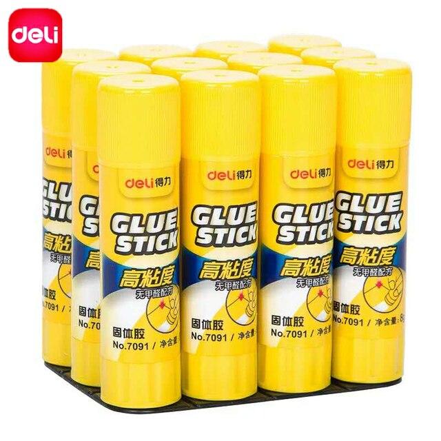 US $7 47 |Deli 10 pcs Value Set Solid Glue Sticks School Office Supplies  Washable High Viscosity Solid Strong Adhesive Solid Glue Sticks-in Glue  Stick