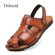 Mens Toe Sandals Closed Goedkope Leather Koop n0OkwP