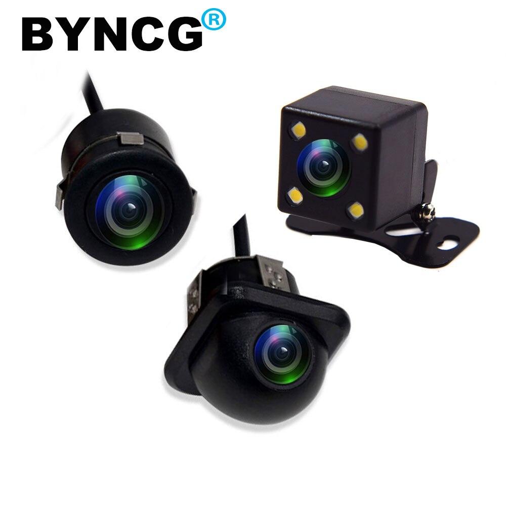 BYNCG HD CCD ночного видения заднего обзора Камера 140 угол Автомобильная камера заднего вида IP67 AC/DC 12 V/24 V автомобиль Камера для VW Форд Тойота и мно...