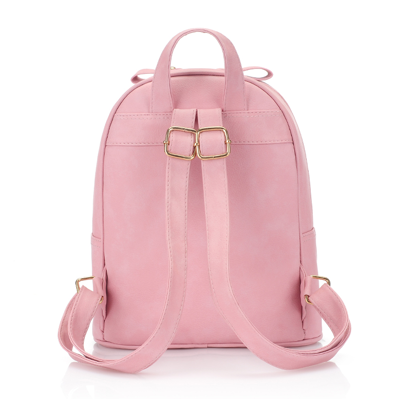 fashion leather backpack women bag set cute Cat school bags for girls small clutch newest multifunction female backpacks 3157