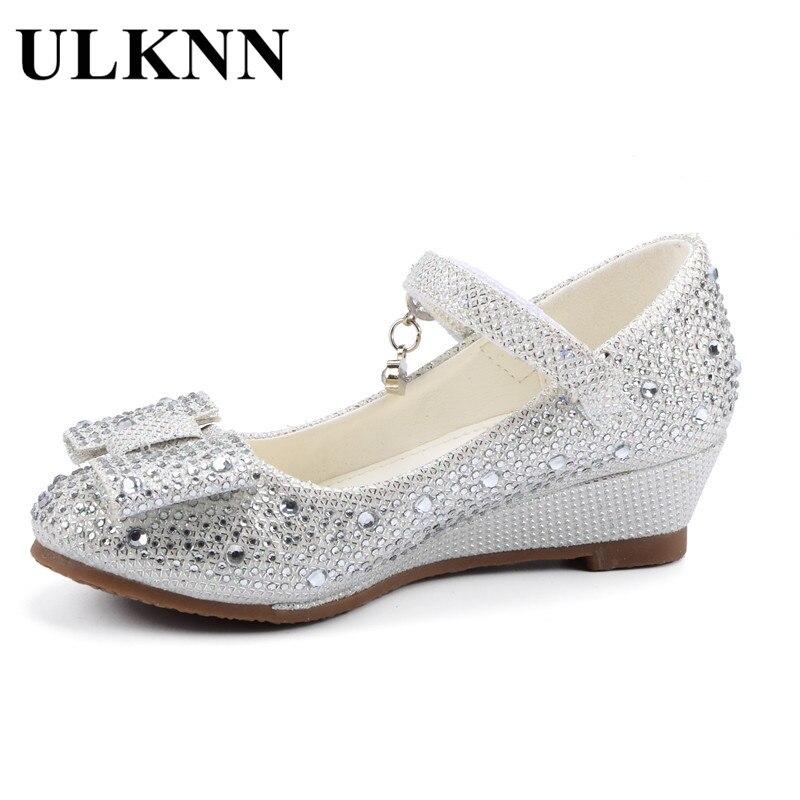 54eaf4958a2b3 ULKNN Filles Été Wedge Sandales Mignon Princesse Chaussures Glitter ...