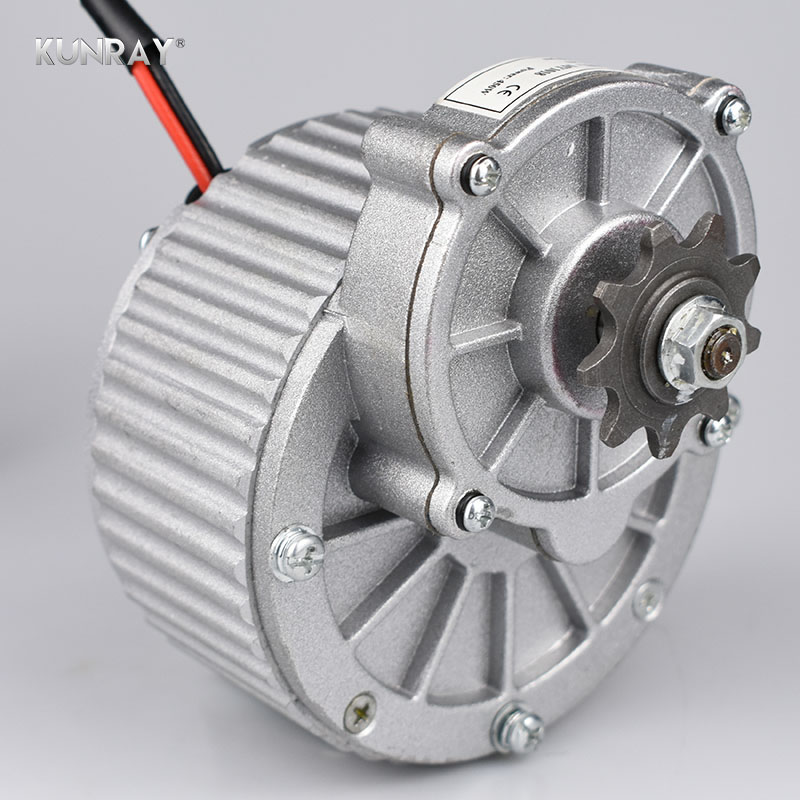 купить Electric Bike Motor 24V 36V 450W Brushed DC Motor Bicycle Conversion Kit Rear Drive Engine For Bike Scooter Parts MY1018 по цене 6705.91 рублей