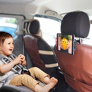 Image 2 - רכב אוניברסלי סוגר אוטומטי מושב אחורי משענת ראש הר מחזיק עבור טלפונים חכמים Ipad Rotatable מתכוונן שולחן מושב Bracket מעמדים