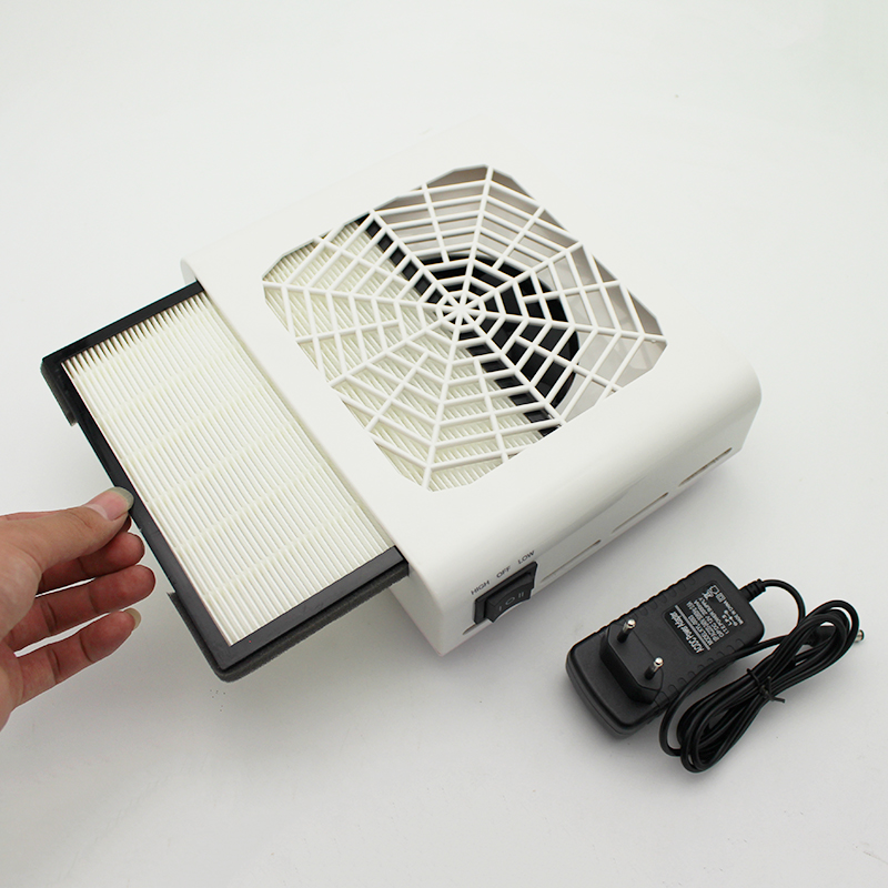 40 W nouvelle puissance forte collecteur de poussière d'ongle ventilateur d'ongle Art Salon d'aspiration dépoussiéreur Machine aspirateur ventilateur