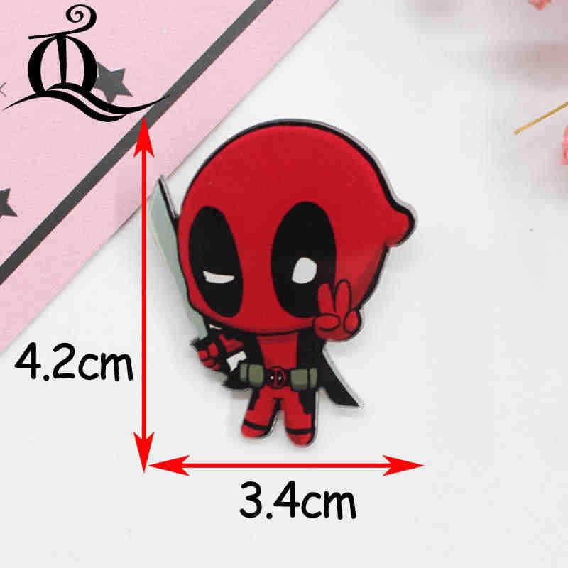 American Hero MIX 1 Pcs Lukisan Kartun Campuran Makanan untuk Pakaian Akrilik Lencana Kawaii Ikon Di Ransel Pin Bros lencana Z11