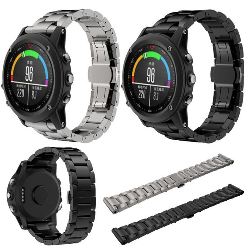 Fabulous Titanium Steel Bracelet Wrist Strap Smart Watch Band For Garmin Fenix 3 / HR wholesale No25