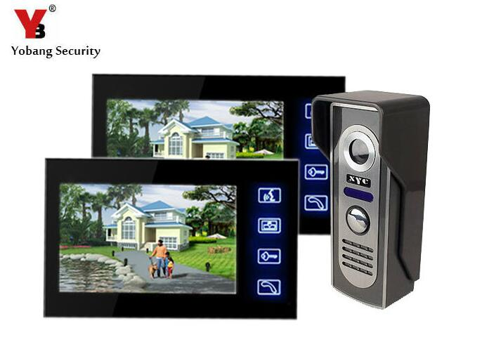 Yobang Security Wired doorphone Video Door Phone Intercom Doorbell Home Security Camera Monitor digital doorbell waterproof yobang security metal outdoor unit ir door camera for doorphone monitor rainproof outdoor camera for video door phone no screen