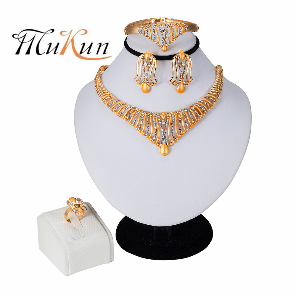 MUKUN Dubai gold jewelry sets for women big Necklace african beads jewelry set Women Italian Bridal Jewelry Sets Wedding Jewelry in Jewelry Sets from Jewelry Accessories