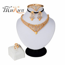 MUKUN Dubai gold jewelry sets for women big Necklace african beads set Women Italian Bridal Jewelry Sets Wedding