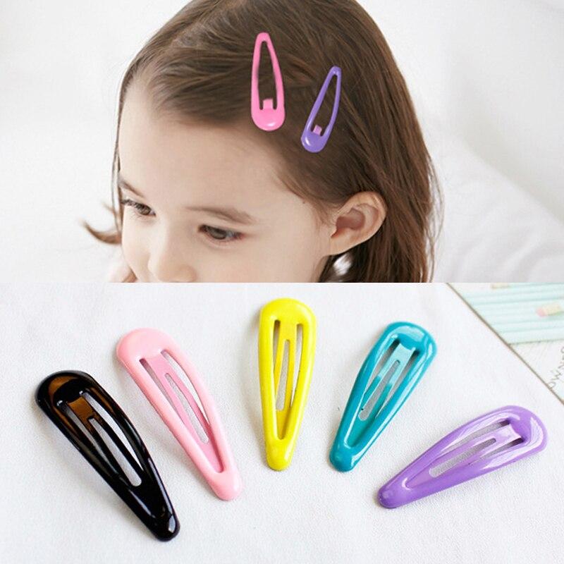 Fashion 10pcs/lot Girl Hair Barrettes Hair Clips DIY BB Clips Sweet Children Kids   Headwear   Children Gift Hair Pins Accessories