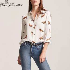 0578b9809d9c42 TIME SILHUETTE Women Long Sleeve Tops And Blouses Shirt