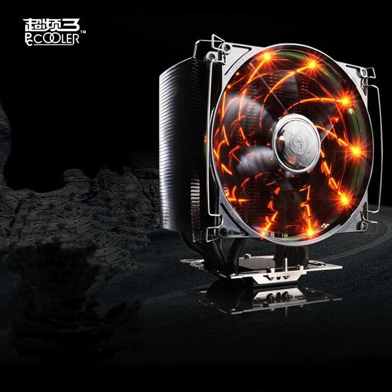 PCCOOLER Freezing Black Gold CPU Radiator CPU Cooler Heatsink Cooling Fan for Desktop Computer PC Cooler Intelligent Radiator фартук с полной запечаткой printio оно пеннивайз