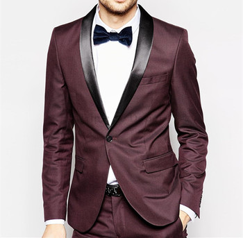 Red Men's Wedding Dress Tuxedos Suit Business Suit Jacket+Pant+Tie