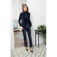 New Fashionable Velvet 2 Piece Sets Women Business Suits Elegant Ladies Pant suits Office Uniform Female Slim Women Pants Suits