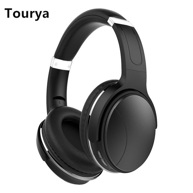 Tourya HZ08 Bluetooth 4.2 Headphone Over Ear Wireless Headphones Foldable Earphone Adjustable Headset With Mic For TV  PC Phones