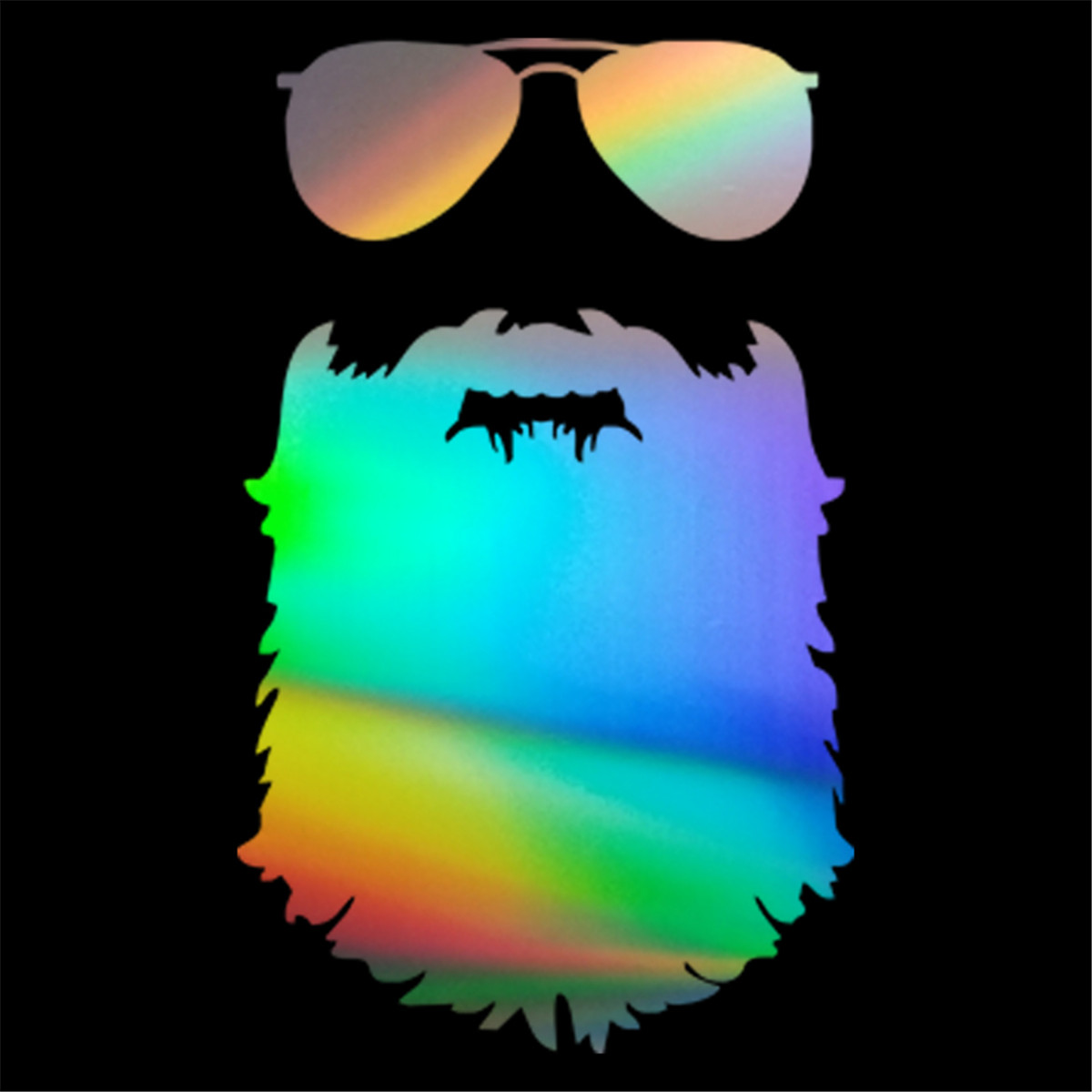 Beard Window Decal *SEVERAL COLORS*