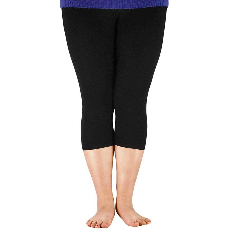 2019 Solid Leggings Women Fashion High Waist Workout Polyester Leggings Jeggings Plus Size Leggings Trousers For Women XXL-7XL