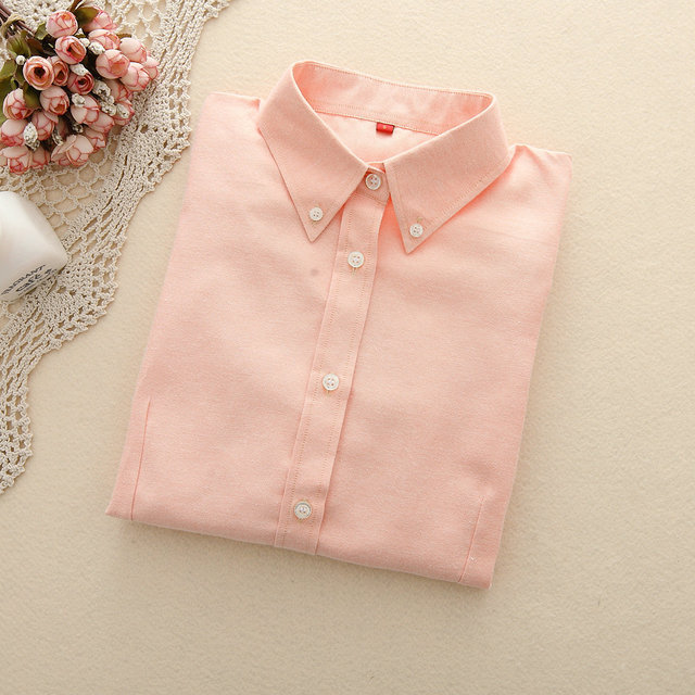 FEKEHA Women Blouses 2019 Long Sleeve Oxford Ladies Tops Office Long Sleeve Shirts Women Student Blusas Camisas Mujer 4