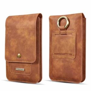 Image 5 - Zet Twee Mobiele Telefoon Pouch Opknoping Taille Voor Alle Telefoons Coque Iphone Case Taille Verpakking Luxe Lederen Covers Shell Accessoires tas