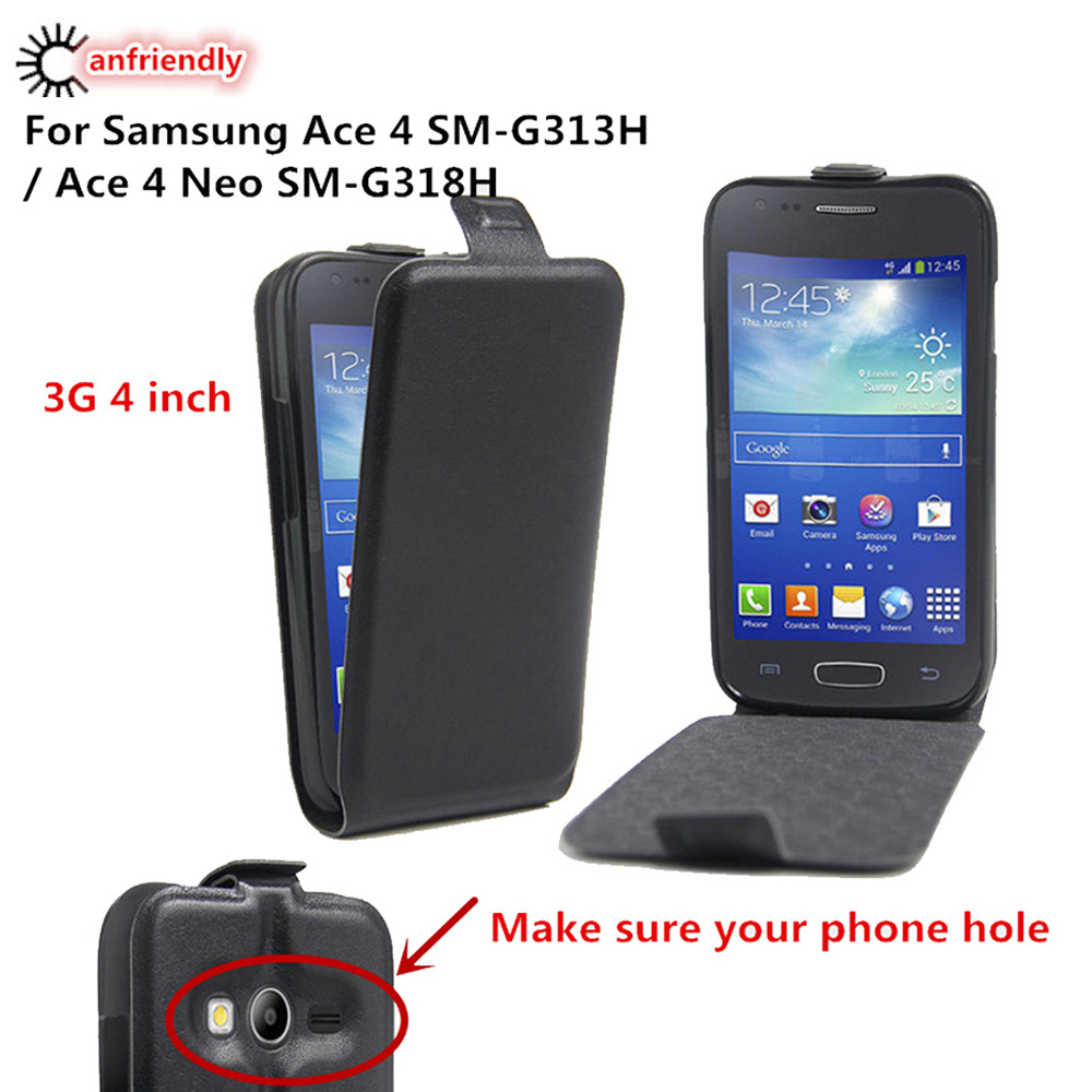 Luxury Flip Leather Cover Case For Coque <font><b>Samsung</b></font> <font><b>Galaxy</b></font> <font><b>Ace</b></font> <font><b>4</b></font> Ace4 <font><b>SM</b></font>-G313H <font><b>SM</b></font> G313H <font><b>Ace</b></font> <font><b>4</b></font> <font><b>Neo</b></font> <font><b>SM</b></font>-<font><b>G318H</b></font> <font><b>SM</b></font> <font><b>G318H</b></font> G318 Ace4 <font><b>Neo</b></font> image