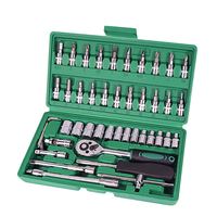 Инструменты для ремонта автомобилей 46 шт 1/4-дюймовый набор торцевых Инструменты для ремонта автомобилей динамометрический ключ с храповым ...