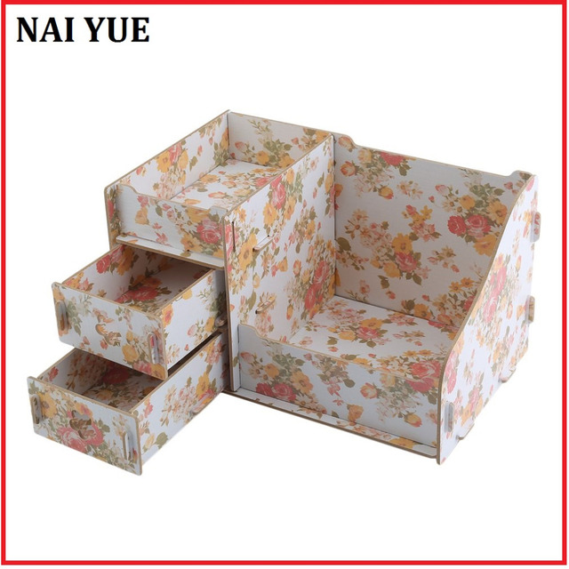 NAI YUE Durable Wooden Jewelry Box Handmade Makeup Storage Case