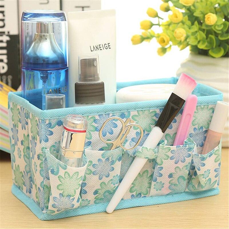 Multifunction Home Desktop Decor Makeup Cosmetic Storage Box Bag Organiser Foldable makeup organizer for family