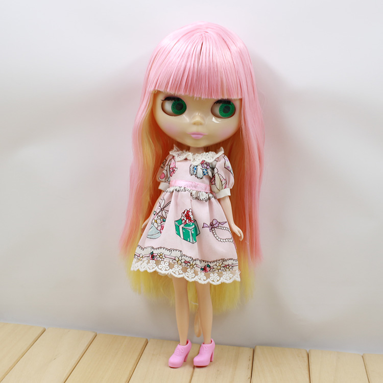 ФОТО Beautiful Nude Blyth doll cute long hair with bangs dolls for own DIY baby
