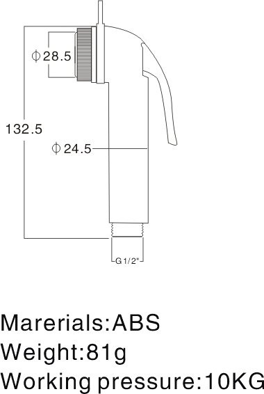 Однорычажный настенный хром Портативный Душ биде- ; ; A1001