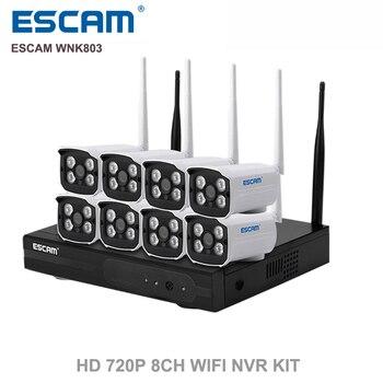 ESCAM WNK803 8-канальный 720 P Беспроводной NVR комплект Открытый ИК Ip-камера Ночного Видения беспроводной комплект Камеры Главная Система Безопасности наблюдения