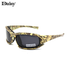 Daisy Camouflage Tactical Safety Glasses Men Sport Polarized Sunglasses Sand And Wind Resistance Goggles gafas de sol X7