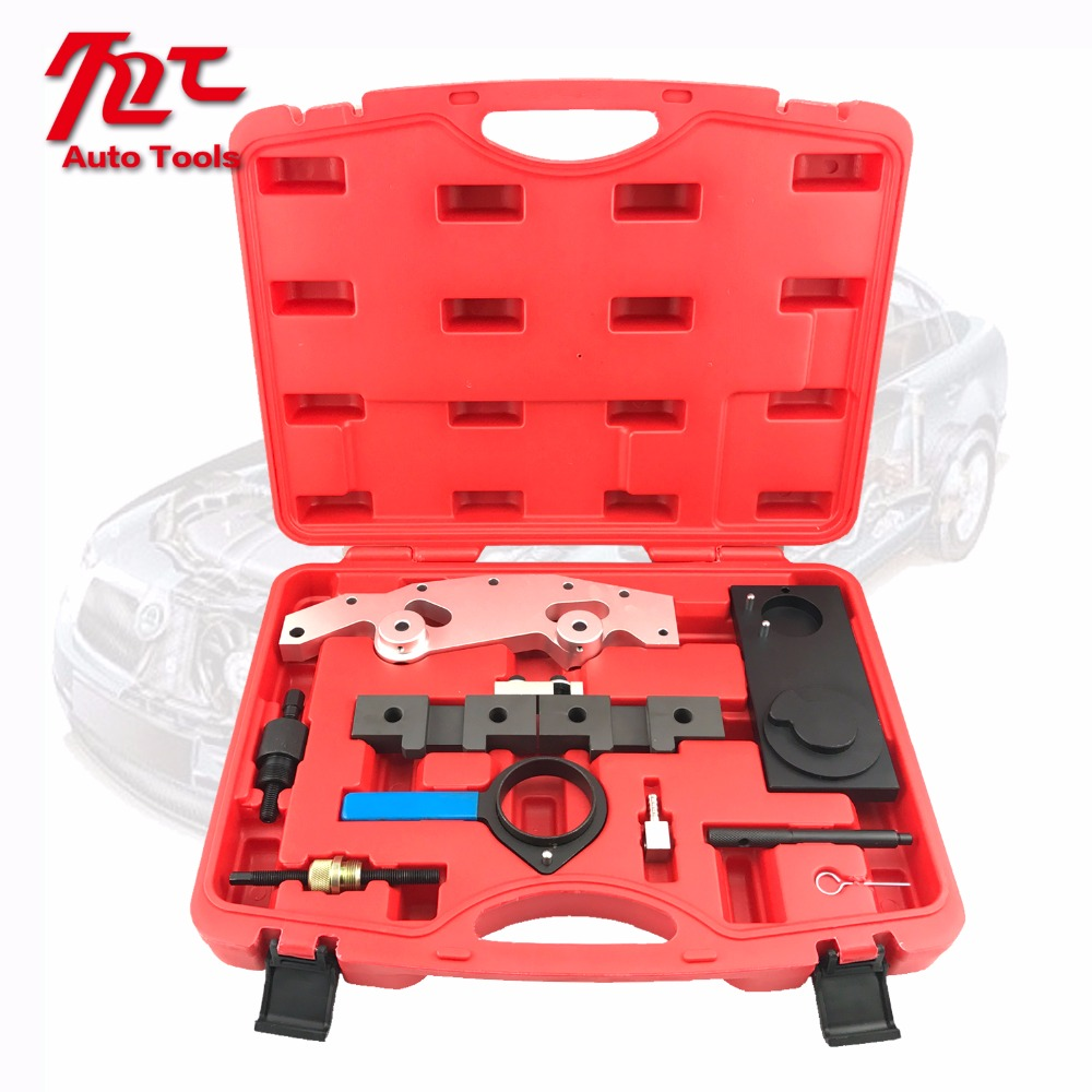 Camshaft Alignment Engine Timing Locking Tool Master Set Double Vanos For BMW M52TU M54 M56 engine camshaft alignment timing tool kit for audi vw 2 0l fsi tfsi