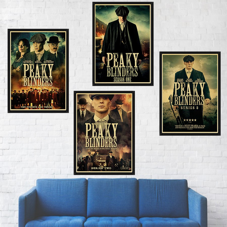 TV Series Peaky Blinders Poster Wall Decor Kraft Paper Print Retro Poster Wall Art Romm Decor