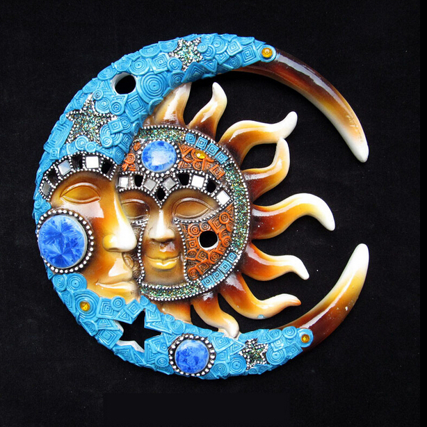 Yoga Wall Decal Vinyl Sticker Sun Moon Cloud Mandala Fire East Home Decor Size 56x56cm