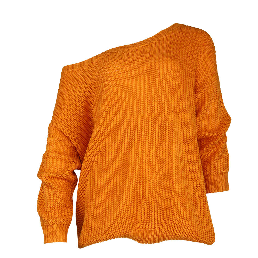sweater for women Long Sleeve Knitted Pullover Off the Shoulder Loose lady's sweaters befree blouse top female jumper top F80
