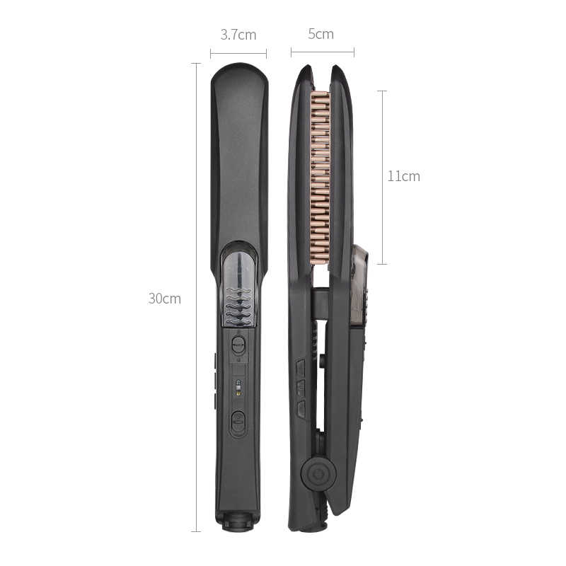 Professional 2 in 1 Hair Curling & Straightening Iron Straightener ผม Curler Wet & Dry Flat Iron Hair styler
