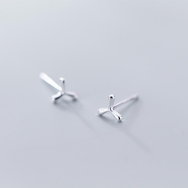 Minimalist 925 Sterling Silver Tiny Cute Stud Earrings For Women Girls Kids Antiallergic Earring New Year Gifts Jewellery Brinco
