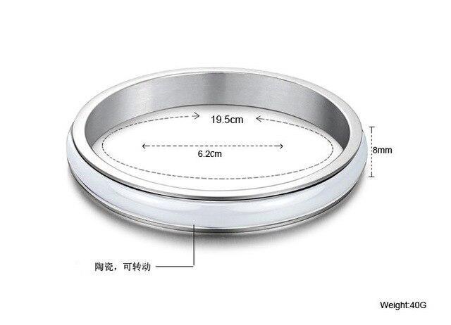White ceramic bracelet jewelry wholesale titanium steel jewelry personality ladies bracelets bangles bracelets for women